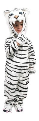 Carnavalskleding verkleedpak witte tijger maat 80 tot 98 1 maat pak kinderverkleedkleding tijgerpak