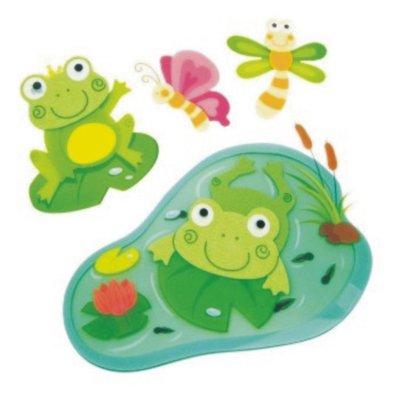 Sticker kikker kamerdecoratie frog roomdeco 3D met vilten kopjes